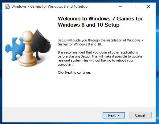 Windows games including Mahjong Titans setup for Windows 10