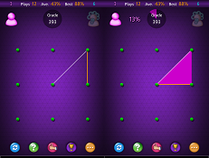 connect the dots in Triangula puzzle game