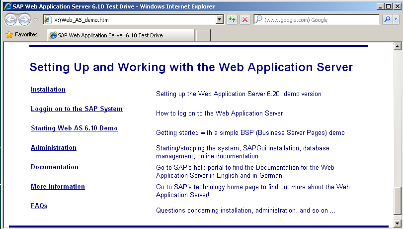 sap miniwas web application server installation