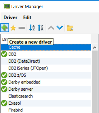create new database driver on DbVisualizer