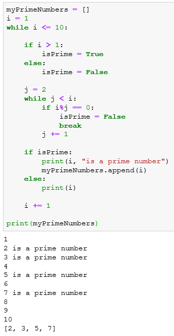 find prime numbers using Python code