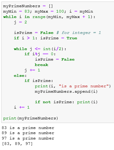 Python program code for the prime number checker application