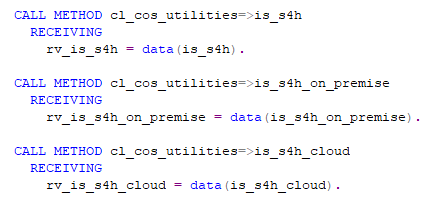ABAP class to detect SAP is S4 HANA running on premise or on cloud