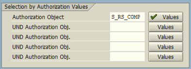 ABAP authorization object values to find SAP roles
