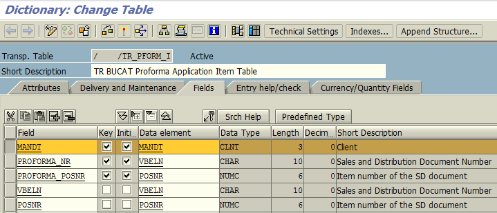 add MANDT field as primary key for database table with existing rows in it