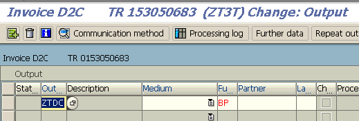 add new output for SAP sales invoice