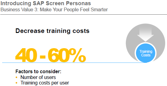Screen Personas reduces training costs
