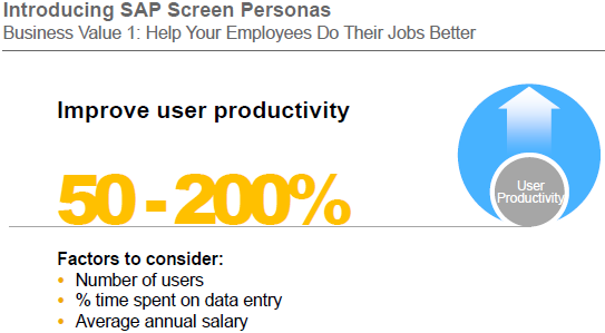 SAP Screen Personas improve user productivity