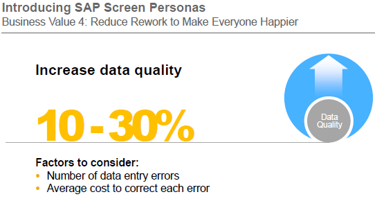 increase data quality by using SAP Screen Personas
