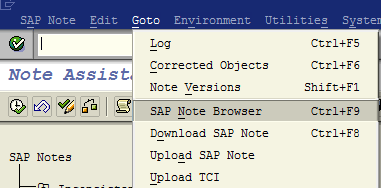 SAP Note Browser