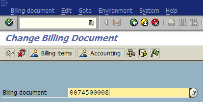 SAP invoice number to redetermine output messages