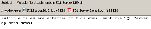 multiple file attachments in SQL Server dbmail