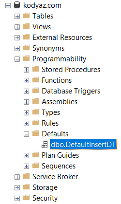 SQL Server Default value objects for user Data Types