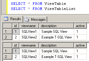 update view definition in SQL Server
