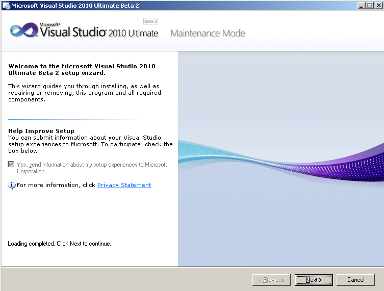 microsoft-visual-studio-2010-ultimate-setup-wizard-maintenance-mode