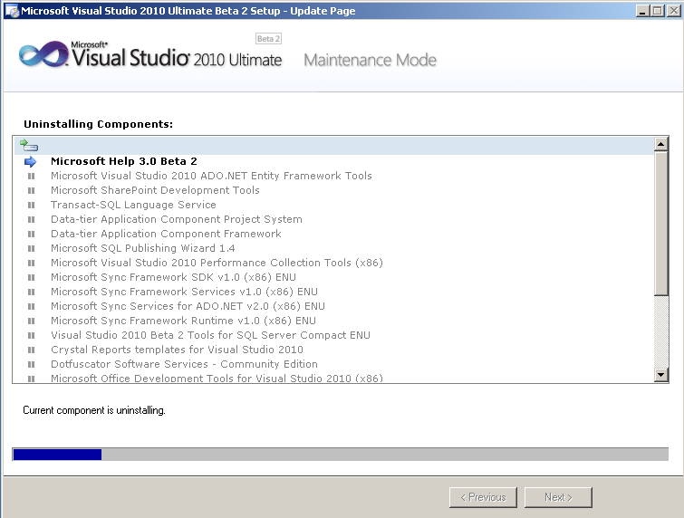 uninstall-visual-studio-2010-beta2-components