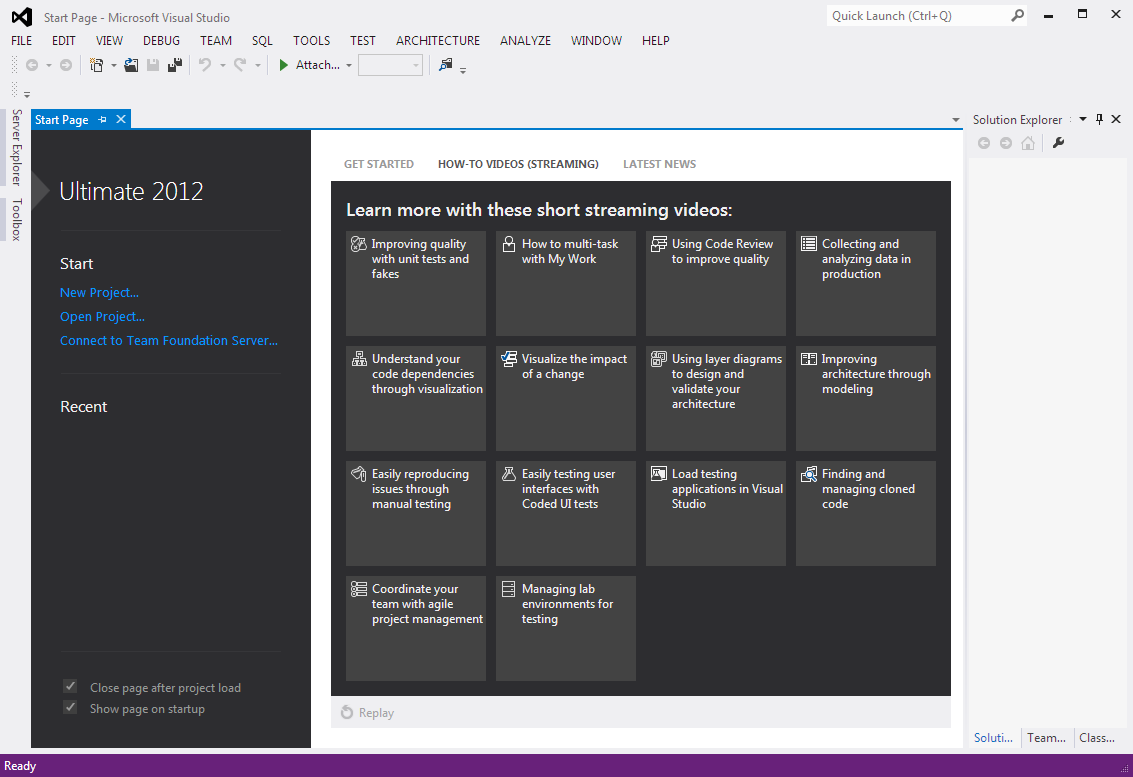 how-to videos as Visual Studio 2012 tutorials for programmers