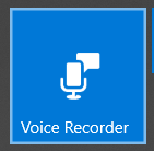 Windows 10 Voice Recorder app pinned on Start menu