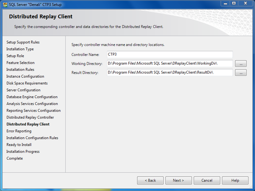 SQL Server 2012 Distributed Replay Client configuration