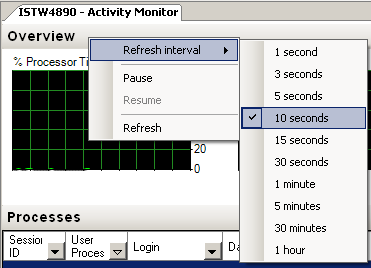 Set Refresh Interval for Activity Monitor tool in SQL Server 2008